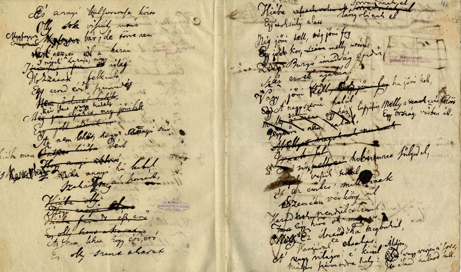 A Szózat első kézirata